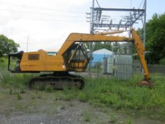 Case Excavator, S/N 07-8-8, w/ Ohio Magnets Model 48LS, Electro Magnetic Lifting Attachment