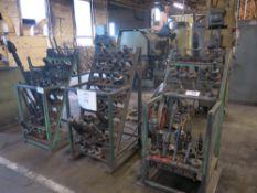 Lot of (3) Lista Toolholder Racks w/ 50-Taper Tooling