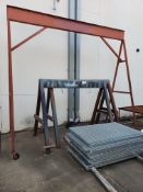 Rolling Gantry Frame & (2) Steel Saw Horses