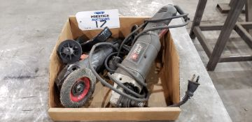 (1) Porter Cable PC750AG & (1) Tack Life P9AG115 Angle Grinders
