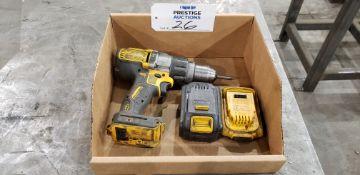 """DeWalt DCD996, 1/2"""", 20V Hammer Drill/Drill Driver W/ (2) Batteries"""