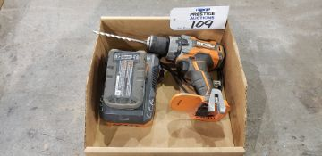 """Rigid R86116, 1/2"""", 18V, VSR Cordless Hammer Drill, 18V Battery & R86092 Battery Charger"""