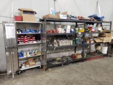 (2) Sections of Adjustable Shelving & (1) 2 Door UltraHD Storage Cabinet W/Contents of Welding & Sho
