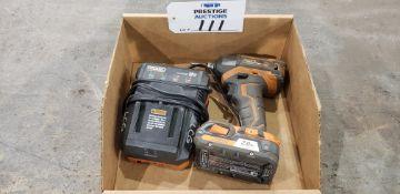 "Rigid R86037, 1/4"", 18V, Impact Driver, 18V Battery & R86092 Battery Charger"