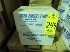 (2) BOXES OF DUO-FAST 6412CR 3/8 IN. STAPLES