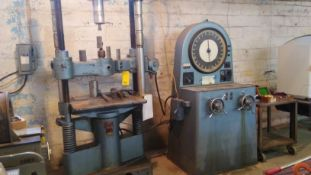 BALDWIN SOUTHWARK EMERY COMPRESSION TESTING UNIT, S/N 36720, 60,000 LB. CAP. WITH DIAL TYPE LOAD IND