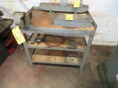 STATIONARY IRON STAND W/H.D. VISE