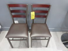 (2) WOOD AND METAL FOLDING CHAIRS