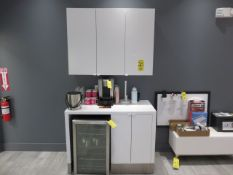 48 IN BASE CABINET W/ REFRIGERATOR CUT-OUT AND 44 IN WALL CABINET