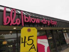 OUTDOOR BLO BLOW DRY BAR BUILDING SIGN