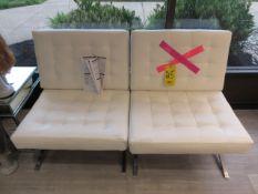 (2) STUDIO DESIGNS ATRIUM CHAIRS-ADHESIVE STUCK TO SEATS