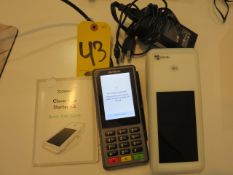 CLOVER FLEX POS SYSTEM W/ CHARGING CRADLE, PPRINTER AND PAPER, VERIFONE P400 PIN ENTRY TERMINAL...