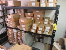 76 IN. RACK UNIT AND 48 IN. SHELVING UNITS (CONTENTS NOT INCLUDED)