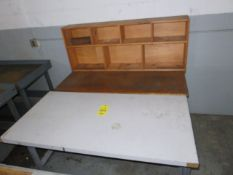 30 IN. X 60 IN. SHOP TOP WORK BENCH AND 30 IN. X 60 IN. SHOP BENCH