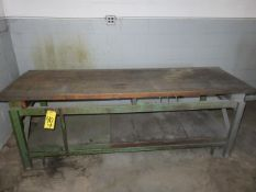 30 IN, X 96 UB, BUTCHER BLOCK BENCH WITH IRON FRAME