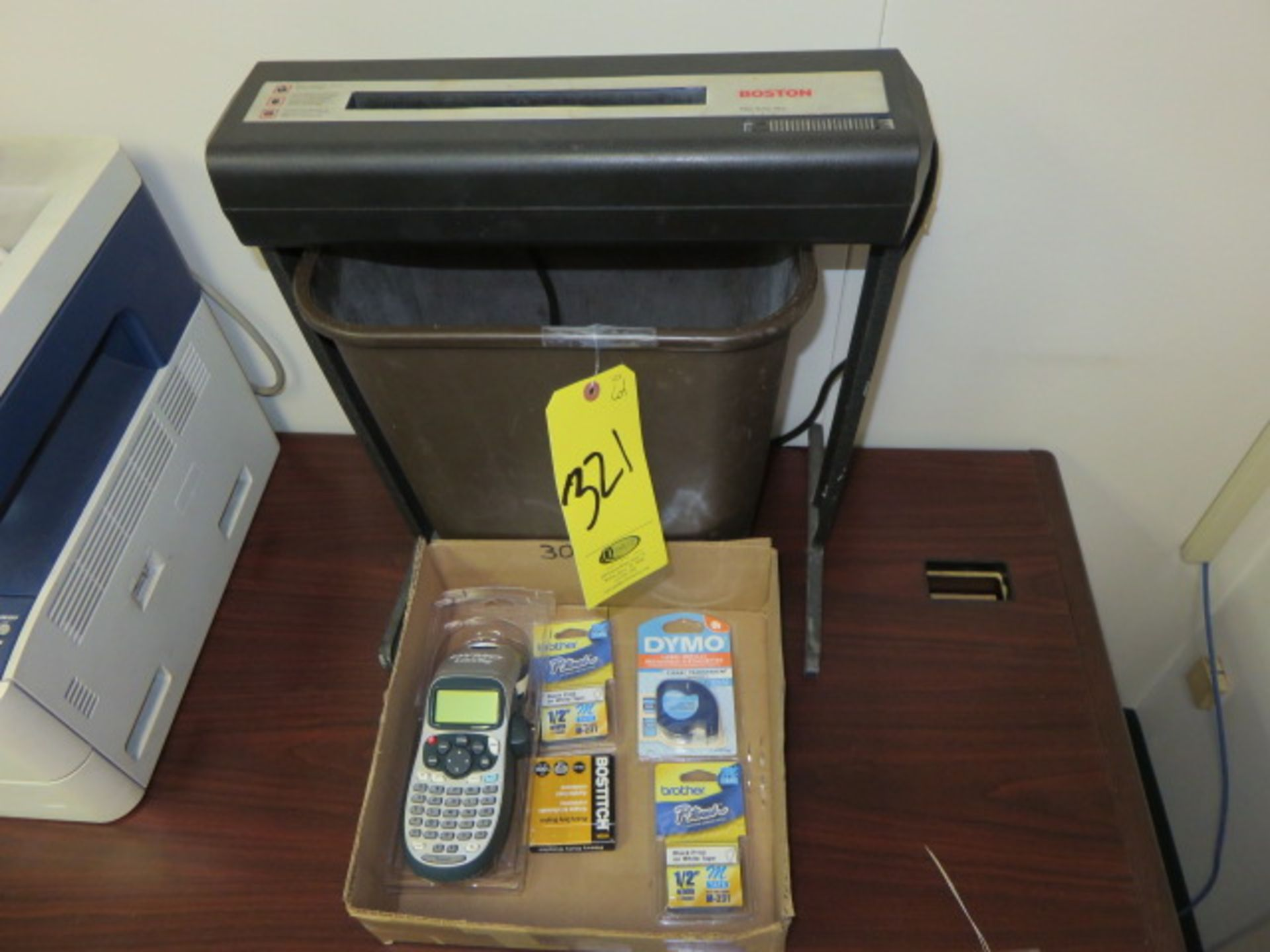 BOSTON SHREDDER, DYMO LABELER AND PAPER CUTTER