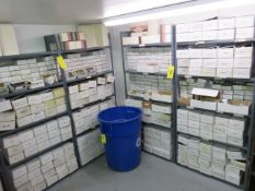 ASSORTED ALUMINUM IN BOXES & TRASH CAN (SHELVES NOT INCLUDED)