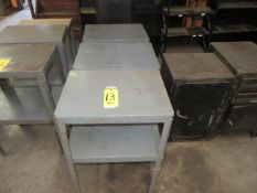 (4) 24 IN. X 16 IN. ADJUSTABLE GRAY METAL STANDS
