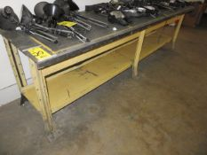 30 IN. X 108 IN. AND 30 IN. X 72 IN. METAL SHOP BENCHES