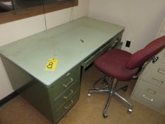 30 IN. X 60 IN. OLD STYLE METAL DESK