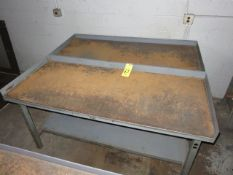 (2) 30. IN. X 72 IN. WORK BENCHES WITH 3-SIDED BACKSPLASHES