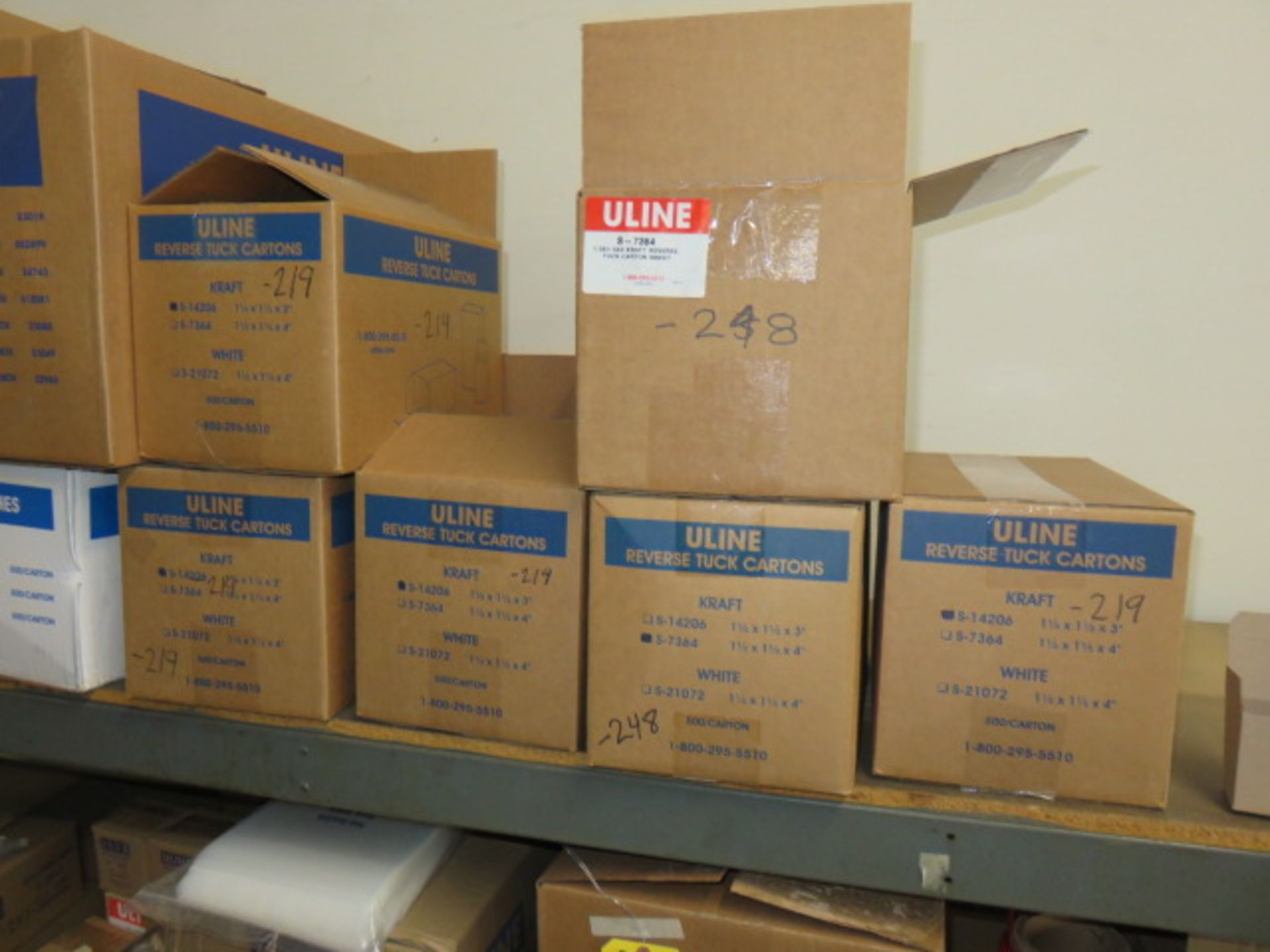 KRAFT REVERSE TUCK CARTONS, POLY & BUBBLE BAGS - Image 2 of 9