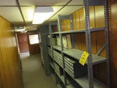 (4) SECTIONS OF ADJUSTABLE METAL SHELVING (NO CONTENTS)
