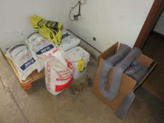 (5) BAGS OF ICE MELT AND BOX OF OIL ABSORBENT SOCKS