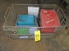 SMALL COLLAPSIBLE METAL BASKET WITH ASSORTED TOTES
