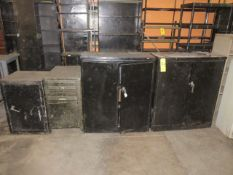 (4) ASSORTED METAL CABINETS