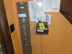 LATHEM ATOMIC TIME CLOCK MDL. 1500E WITH CARD RACK