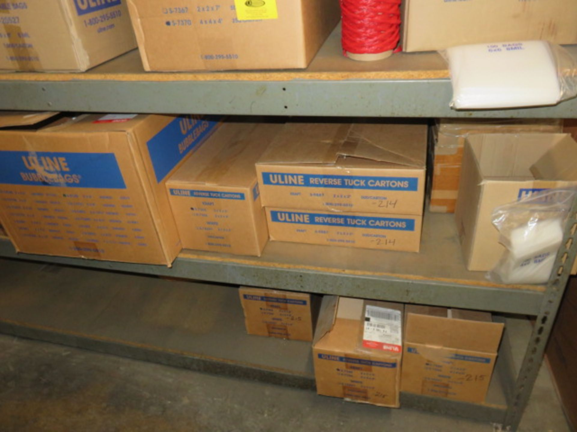 KRAFT REVERSE TUCK CARTONS, POLY & BUBBLE BAGS - Image 7 of 9