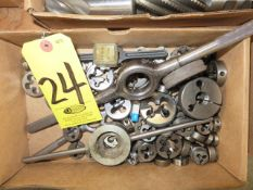 ASSORTED TAP DIES AND WRENCHES