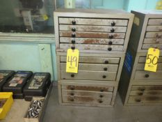(3) ASSORTED DRILL CABINETS WITH NUMBER, LETTER AND FRACTION DRILLS