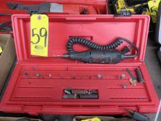 DREMEL 395 MOTO-TOOL, DREMEL FLEX SHAFT 225T1 AND ASSORTED ACCESSORIES