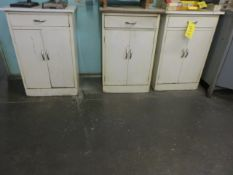 (5) METAL UTILITY CABINETS
