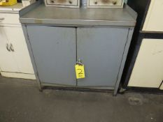 STATIONARY SHOP CABINET AND TWO DOOR SUPPLY CABINET