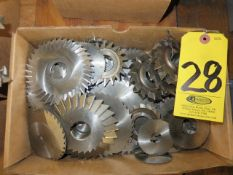 ASSORTED SLITTING SAWS AND MILLING CUTTERS