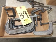 (6) ASSORTED C CLAMPS