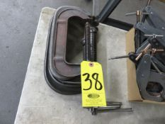 (4) ASSORTED C CLAMPS