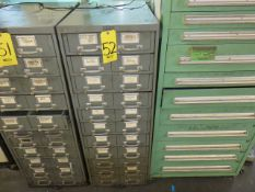 22 DRAWER HARDWARE CABINET WITH HARDWARE CONTENTS