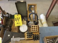 INDICATORS, MICROMETER, NUMBER PUNCHES AND CALIPER