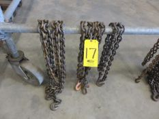 (3) ASSORTED TIE-DOWN CHAIN SETS