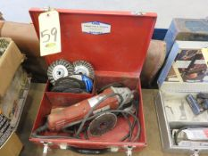 MILWAUKEE 4-1/2 IN. GRINDER WITH ASSORTED WIRE AND ABRASIVE WHEELS