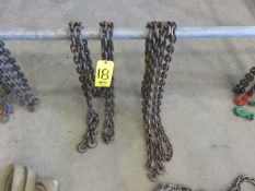 (2) ASSORTED.TIE-DOWN CHAIN SETS