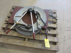(2) 1-1/2 IN. STRAPPING COILS WITH RATCHET, CLOSER AND CUTTER