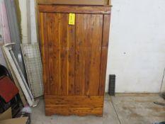 DOUBLE DOOR CEDAR CLOSET WITH INSIDE CEDAR CHEST
