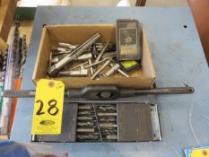 ASSORTED TAPS AND WRENCHES