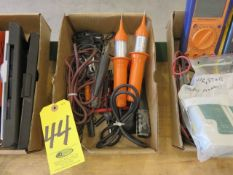 ASSORTED ELECTRICAL TESTERS AND ENGINE TACOMETER