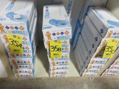 (12) BOXES LARGE NITRILE GLOVES